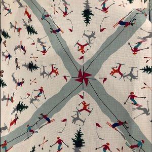 NWOT Talbots Wrap/Scarf w/Festive Ski Scene